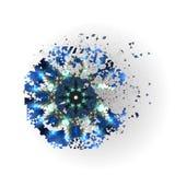 五颜六色的传染媒介形状,分子建筑 免版税库存照片