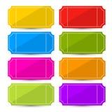 五颜六色的传染媒介票集合例证 库存照片