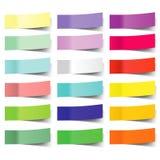 五颜六色的传染媒介稠粘的笔记的汇集 库存例证