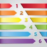 五颜六色的传染媒介箭头 库存图片