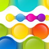 五颜六色的传染媒介背景 免版税库存图片