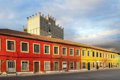 五颜六色的传统房子 库存图片