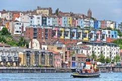 五颜六色的住房在布里斯托尔 免版税库存图片