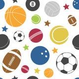 五颜六色的体育运动无缝的模式 库存照片