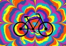 五颜六色的例证为自行车天 库存例证