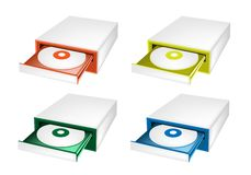 五颜六色的例证套磁盘驱动器 免版税图库摄影