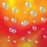 抽象背景和泡影 向量例证