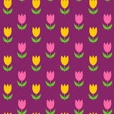 五颜六色的例证模式无缝的郁金香向量 免版税库存图片