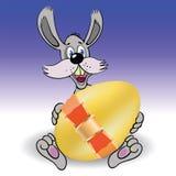 兔子和复活节彩蛋 库存照片