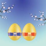 二个复活节彩蛋 库存照片