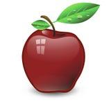 红色苹果 皇族释放例证