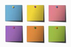 五颜六色的便条纸 库存例证