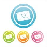 五颜六色的信函爱符号 免版税库存图片