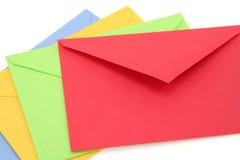 五颜六色的信包 免版税库存图片