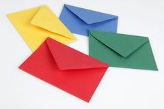 五颜六色的信包 免版税库存照片