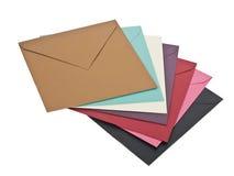 五颜六色的信包 库存照片
