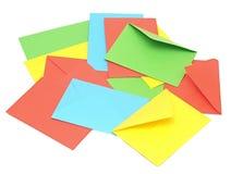五颜六色的信包 免版税图库摄影