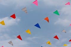 五颜六色的信号旗行 图库摄影