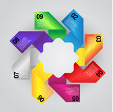 五颜六色的信息图表 免版税库存照片