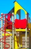 五颜六色的儿童操场 库存图片