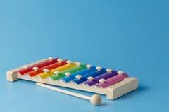 五颜六色的儿童的铁琴 库存图片