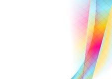 五颜六色的充满活力的技术波浪抽象背景 库存例证