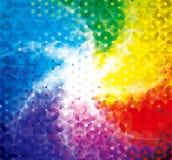 五颜六色的光亮的几何背景 免版税库存图片