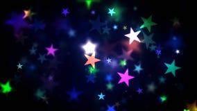 五颜六色的光亮的星 库存图片