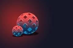 五颜六色的光亮滤网空心球形背景或 免版税库存照片