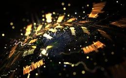 五颜六色的光和抽象形状,互联网概念 库存图片