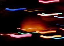 五颜六色的光条纹  库存图片