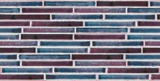 五颜六色的光泽砖背景 免版税库存图片