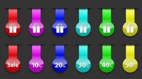 五颜六色的光滑和镶边网络设计要素 免版税库存照片