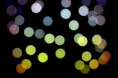 五颜六色的光点图形 库存照片