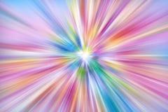 五颜六色的光爆炸 库存图片