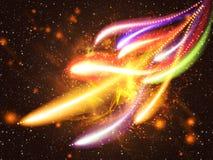 五颜六色的光线影响 免版税库存图片