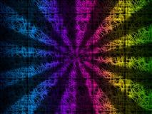 五颜六色的光芒背景显示彩虹光束 库存照片