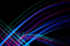 五颜六色的光跟踪 免版税库存图片