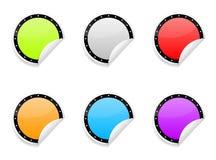 五颜六色的光滑的贴纸 皇族释放例证