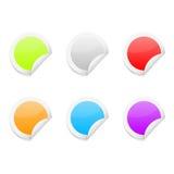 五颜六色的光滑的贴纸 库存例证