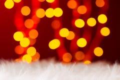 五颜六色的光bokeh新年光 库存图片