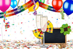 五颜六色的党狂欢节生日庆祝背景 免版税图库摄影