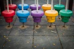 五颜六色的公共操场 免版税库存照片