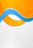 五颜六色的公司传染媒介波浪设计 向量例证