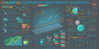 五颜六色的公司Infographic元素 免版税库存图片