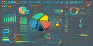 五颜六色的公司Infographic元素 免版税库存照片