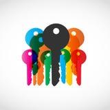 五颜六色的关键符号 图库摄影