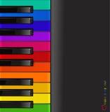 五颜六色的关键董事会钢琴向量 免版税图库摄影