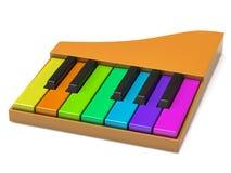 五颜六色的关键董事会钢琴 库存照片