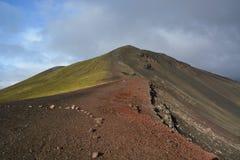 五颜六色的冰岛山 免版税库存照片